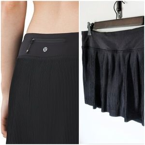 Lululemon Black Pleat to Street Skirt III